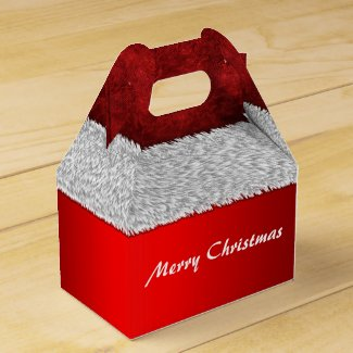 Santa Suit Red Christmas Favor Box