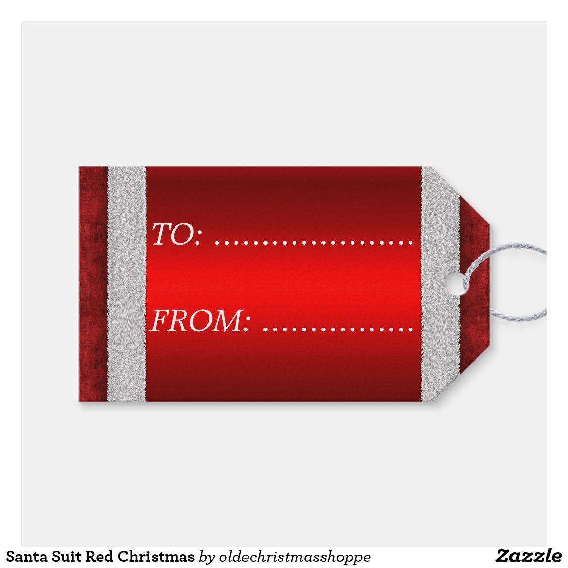 Santa Suit Red Christmas Gift Tags