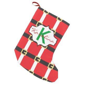 Santa Suit Small Christmas Stocking