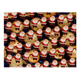 Santa Super  dancing Tarjeta Postal