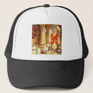 Santa Supervises Elves Baking Christmas Cookies Trucker Hat