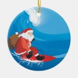 Santa Surf Ornament