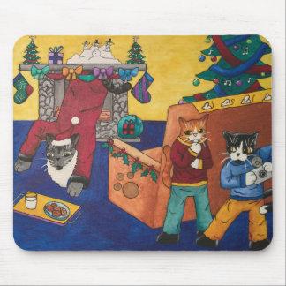 Santa Surprise Mouse Pad