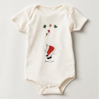 Santa Swan Baby Bodysuit