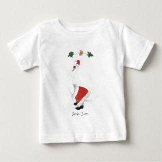 Santa Swan Baby T-Shirt