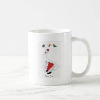 Santa Swan Classic White Coffee Mug
