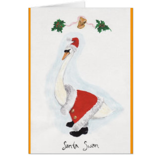 Santa Swan Greeting Card