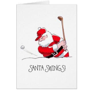 Santa Swings greeting card