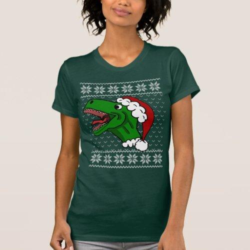 Santa T-Rex Ugly Christmas Sweater
