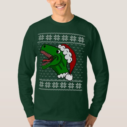 Santa T-Rex Ugly Christmas Sweater After Christmas Sales 2311