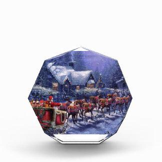 Santa Takes Off In His Sleigh Christmas Eve Acrylic Award