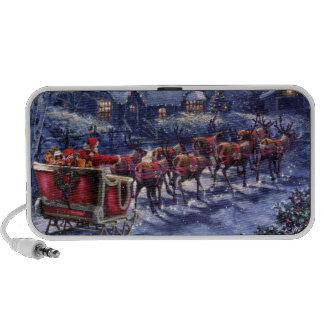 Santa Takes Off In His Sleigh Christmas Eve Travel Speaker