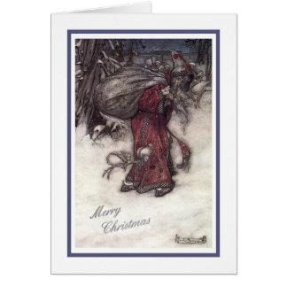 """""""Santa """" Tarjeta De Felicitación"""