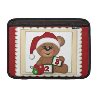Santa Teddy Bear MacBook Sleeve