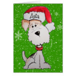 Santa Terrier CUSTOM ORDER Card