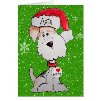 Santa Terrier CUSTOM ORDER Greeting Card
