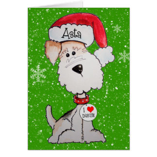 Santa Terrier CUSTOM ORDER Greeting Card