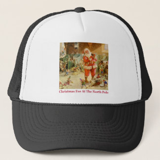 Santa & The Elves in The North Pole Stables Trucker Hat