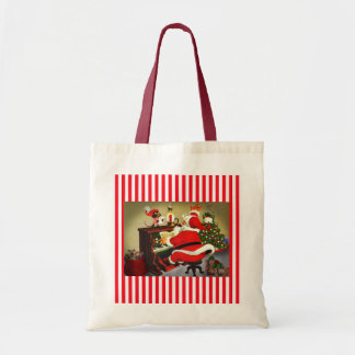 Santa The Musician Christmas Tote Bag
