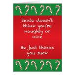 Santa Thinks You Suck Funny Christmas Card