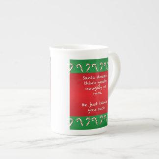 Santa Thinks You Suck Funny Christmas Tea Cup