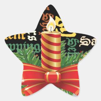 Santa tiene Niza un día y mejor Night.jpg Pegatina En Forma De Estrella