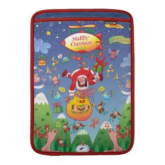 Santa tiene un zepelín para entregar los regalos funda para macbook air