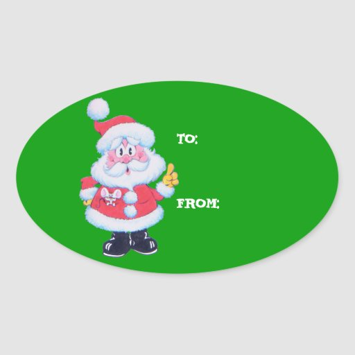 Santa To and From Package Stickers