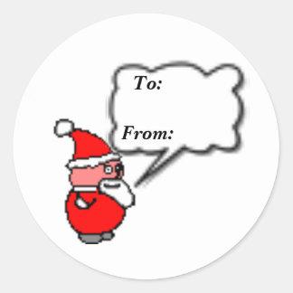 Santa To: From: Round Sticker's - Classic Round Sticker