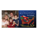 Santa tonto en su trineo tarjetas personales