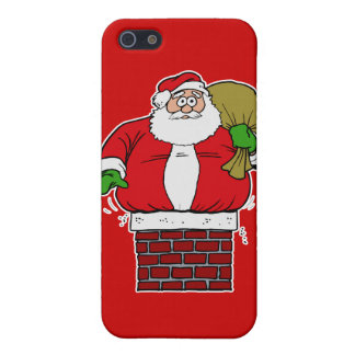 Santa too fat stuck in chimney iPhone 5 covers