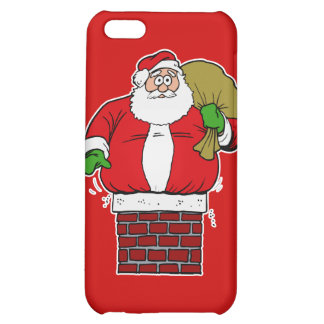 Santa too fat stuck in chimney iPhone 5C cases