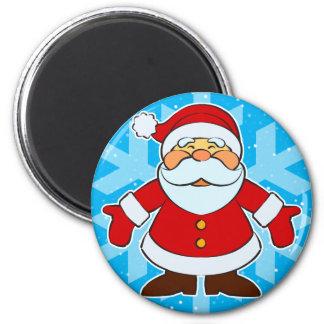 Santa Toon 2 Inch Round Magnet