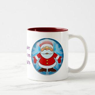 Santa Toon Two-Tone Coffee Mug