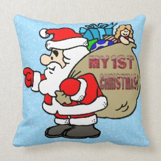 Santa Toy Bag - Baby's 1st Christmas Pillow