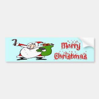 Santa & Toy Bag Bumper Sticker