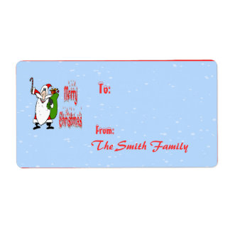 Santa & Toy Bag Gift Tag