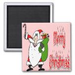 Santa & Toy Bag Magnet
