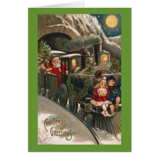 santa train card