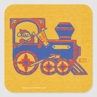 Santa Train Stickers