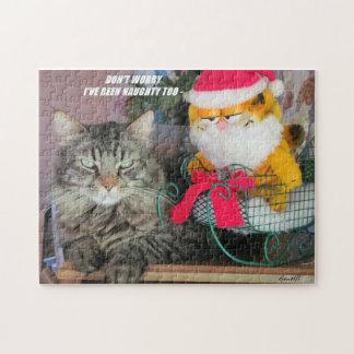 Santa travieso también puzzle con fotos