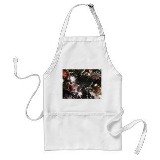 santa tree abstract graphic holiday painting adult apron
