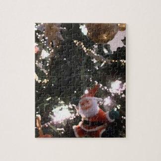 santa tree abstract graphic holiday painting puzzles