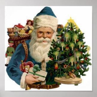 Santa, Tree, Bag of Toys Poster