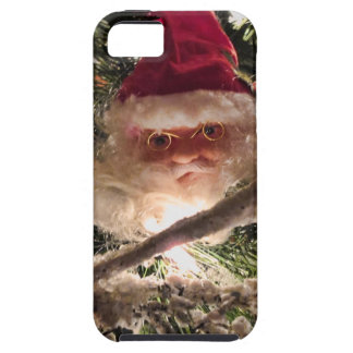 Santa Tree Ornaments, Red Christmas Balls, Lights iPhone SE/5/5s Case