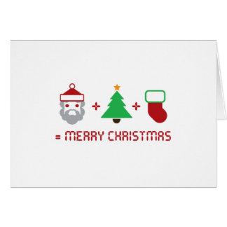 Santa + Tree + Stocking = Merry Christmas Greeting Cards