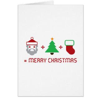 Santa + Tree + Stocking = Merry Christmas Card