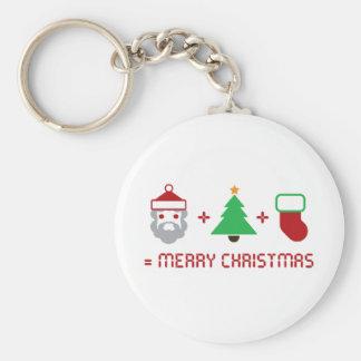 Santa + Tree + Stocking = Merry Christmas Keychains