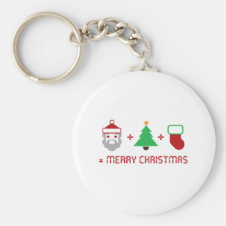 Santa + Tree + Stocking = Merry Christmas Keychain