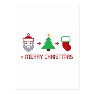 Santa + Tree + Stocking = Merry Christmas Post Card